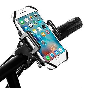 Support universel pour téléphone portable support vélo Housse pour iPhone6/6plus 6S/6S plus/5S se Samsung Galaxy S5 S7 S6/S5 Mini/Huawei P9/P9 lite P8/P8 lite Sony LG pour téléphone portable Support réglable Il représente une impression stable et mai...