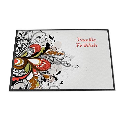 banjado - personalisierte Fußmatte 70x50cm Schmutzfangmatte Türmatte Fußabtreter Motiv Ornament 2
