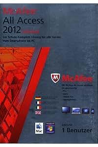 McAfee All Access 2012 - Individual, 1 Benutzerlizenz  (PC+MAC) (inklusive kostenlose Upgrademöglichkeit auf Version 2013)