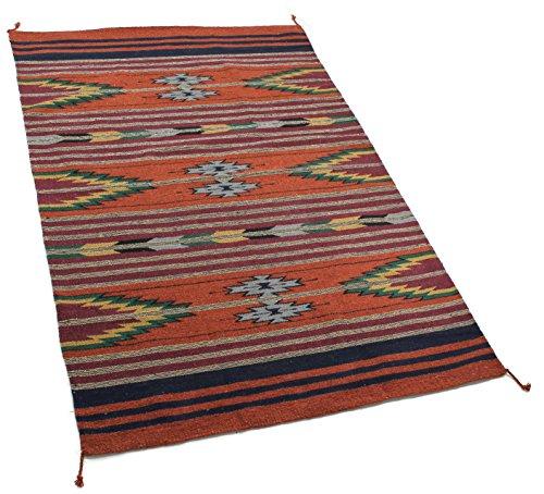 Onyx Pfeil Southwest Décor Bereich Teppich, Acrylbeschichtete Baumwolle, Pueblo Pattern Rust/Multi, 4 x 6 -