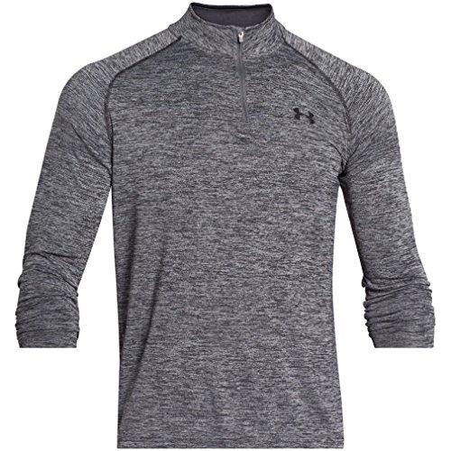 under-armour-mens-tech-1-4-zip-long-sleeve-sweatshirt-noir-noir-graphite-medium