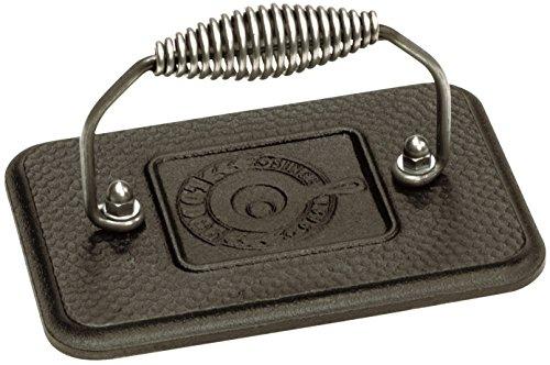 Lodge 17.15 x 11.43 cm / 6.75 x 4.5 inch Pre-Seasoned Cast Iron Rectangular Grill Press