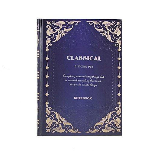 LY® Bloc-Notes Carnet de Voyage Journal Intime Style de Vintage Pour Adulte 162 Feuilles A5 20×14CM - Bleu