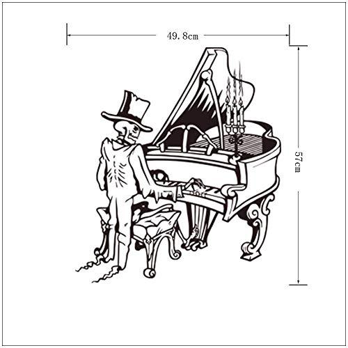 HhGold Einfache Halloween-Klavier-Wand-Aufkleber, Schlafzimmer, Das Aufkleber 57 * 50cm verziert