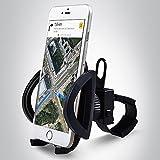 Bergsteiger Fahrrad Handyhalterung für alle Smartphone, Handyhalter, verstellbar für iPhone X 8 7 6S/6S Plus 6/6Plus 5S/4S Galaxy S5/S4/S3, auch für Kinderwagen & Motorrad geeignet, Original Bergsteiger Fahrrad-Zubehör