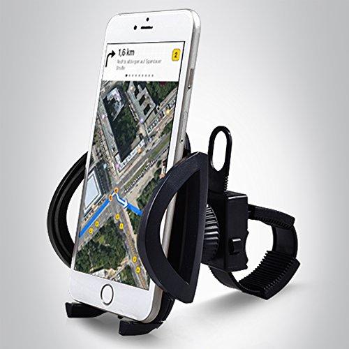 Bergsteiger Fahrrad Handyhalterung für alle Smartphone, Handyhalter, verstellbar für iPhone X 8 7 6S/6S Plus 6/6Plus 5S/4S Galaxy S5/S4/S3, auch für Kinderwagen & Motorrad geeignet, Original Bergsteiger Fahrrad-Zubehör Elektronische Fahrrad Motor