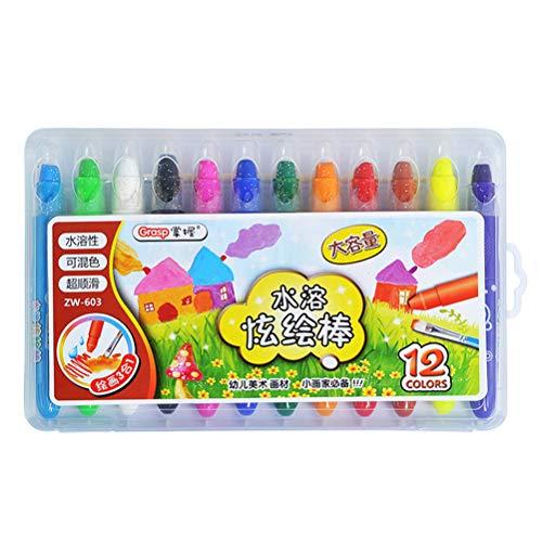 SUPVOX Zeichnung Buntstifte Malerei Spaß Sticks Set 12 Farben Professionelle Malerei Pens Kit Gesicht Körperbemalung Spezielle Kosmetische Fall Make-up Paint Bleistifte