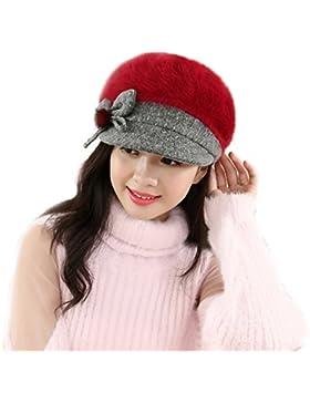 Tefamore Sombrero de las Mujeres Invierno de Caliente Gorro de Suave de Ganchillo de Tejer