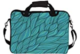 """Snoogg Seamless Waves Texture 15"""" 15.5"""" 15.6"""" inch Laptop Notebook SlipCase With Shoulder Strap Handle Sleeve Soft Case With Shoulder Strap Handle Carrying Case With Shoulder Strap Handle for Macbook Pro Acer Asus Dell Hp Sony Toshiba"""