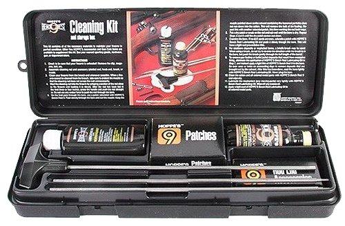 Hoppes Auflageschiessen Cleaning Kit für alle Kaliber, Plugs Gewehre und Schrotflinten mit Edelstahl-Rod und Box -