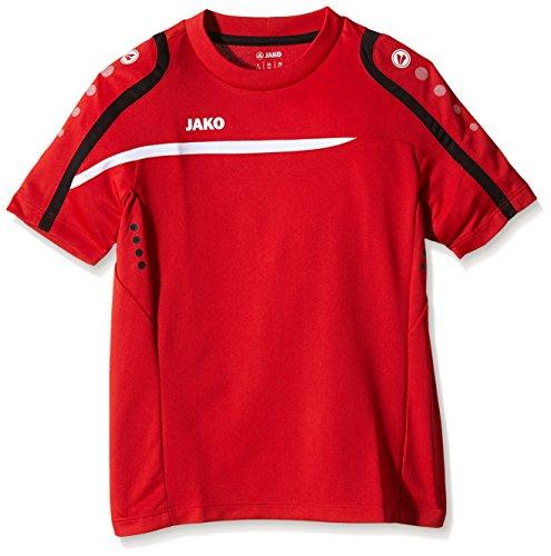 Jako, Maglietta Performance Multicolore - Rosso/Bianco/Nero