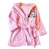 Janly Baby-Jungen-Mädchen scherzt Bademantel-Karikatur-Katze-Tiere-mit Kapuze Tuch-Pyjamas-Kleidung Plüsch-Karikaturkatzenohren der Kinder mit Kapuze Nachthemd Pyjamas (13, Rosa)