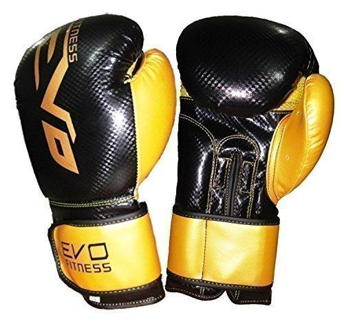EVO MAYA Leder Boxhandschuhe MMA Boxsack Sparring Kickboxen Trainingshandschuh - 16 Oz (Evo Fitness)