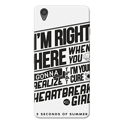 INKIF I am Right Here Quote Designer Case Printed Mobile Back Cover for One plus X /Oneplus x (Black)
