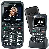 Mobiho-Essentiel Le Classic Initial Noir - Téléphone Complet Senior. Le Seul Appareil réunissant Toutes Les Solutions : Audition, Vision, préhension, dextérité, Fausses manip. DEBLOQUE Tout OPERATEUR