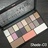 Swiss Beauty Fashion Artist Eyeshadow Palette with 16 Eyeshadow, 1 Bronzer, 1 Blusher and 1 Highlighter, 30g(ColorSet-03)