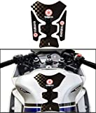 #9: Veev Tech-[Black] Petrol Tank Protector Motor Cycle Fuel Tank Sticker Pad With Keychain for Yamaha YZF R15 S