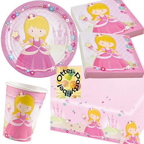HHO Prinzessin-Party-Set My Princess Partyset 37tlg. für 8 Gäste 8 Teller 8 Becher 20 Servietten 1 Tischdecke