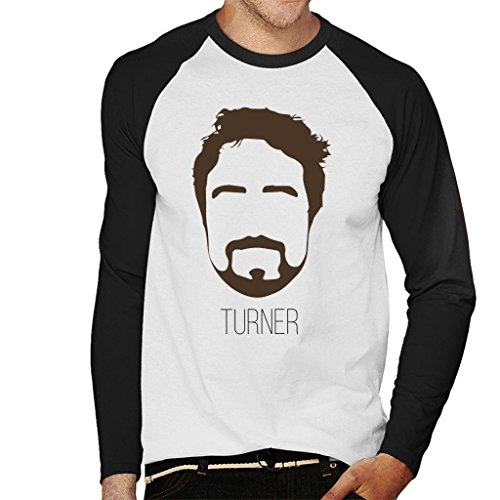 Frank Turner Music Icon Silhouette Men's Baseball Long Sleeved T-Shirt