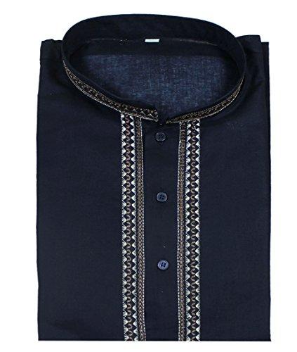 Manches-courtes-en-coton-bouton-de-mode-mens-court-kurta-up-t-shirts-tees