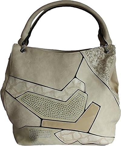 H&G Ladies Large Designer Diamante Tote \ Shoulder Handbag by Aliston – Paris