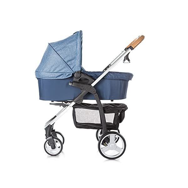 Chipolino Baby Stroller and Carry Cot Avenue, Navy Chipolino Can also be transformed into a carry cot Comfortable upholstered carrycot with mattress and carry handle Single front swivel lockable wheels 2