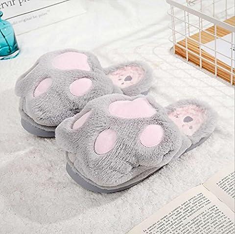 Animal Feet Nette Pantoffeln Warm Cotton Slippers Anti-Rutsch-Verdickung Flip Flops