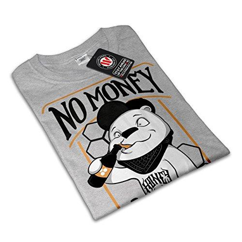 Nein Geld Honig Bier Komisch Damen S-2XL T-shirt   Wellcoda Grey