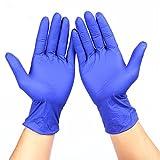 Y-Hui Guantes de nitrilo desechables Lab cocina equipada, hogar de la industria de seguros laborales guantes resistentes al aceite espeso ,Xs, Grueso azul oscuro