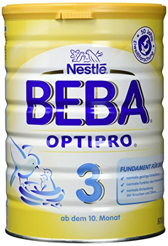 Nestlé Beba Optipro 3 Folgemilch nach dem 10. Monat, 6er Pack (6 x 800 g)