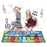 LEADSTAR Tappeto Musicale Bambini, Giochi di Musica Stuoia di Piano Multifunzionale, Musicale Bambini Tocco Mat Educativo Giocattolo (48x130cm)