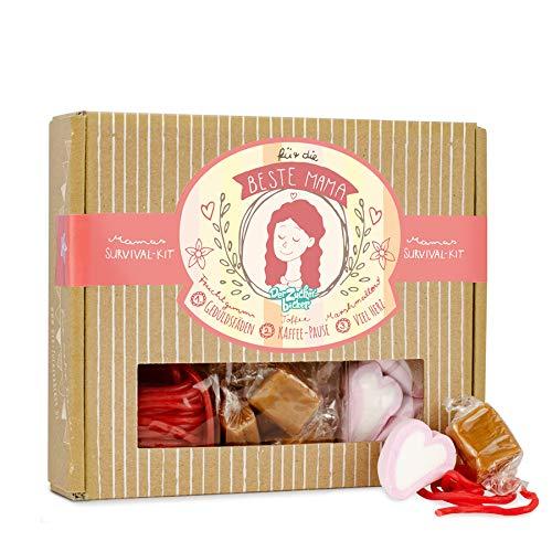 Mamas Survival Kit - Süßigkeiten Geschenk Box mit einem tollen Süßigkeiten-Mix für die beste Mama, perfekt zum Muttertag oder Mamas Geburtstag