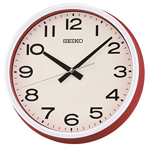 seiko-reloj-de-pared-qxa645r-rojo