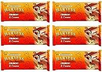 Harveys Crunchy & Creame Gourmet Delicacies Cream Wafer Biscuit 150 g Sticks - Vanilla & Hazelnut Flavoured (Pack of 6)