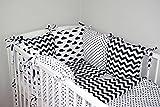 Baby's Comfort Parure de lit bébé ENSEMBLE DE 12 PIÈCES avec Tour de lit 6 coussins (24 couleurs ) (s'adapte de matelas 120x60cm, 3a)