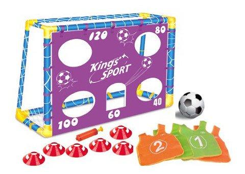 Preisvergleich Produktbild Fußball-Trainingsset für Kinder - 1 Tor (B 1,3 m x H 1 m), Kegel und Leibchen