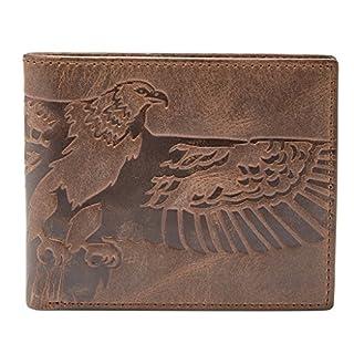 Fossil Geldbörse EAGLE bifold Braun Adler ML3962-200 Herren Portemonnaies Leder