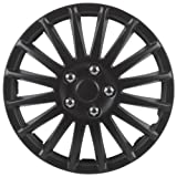 Unitec 7517 Suzuka - Tapacubos (4 unidades), color negro
