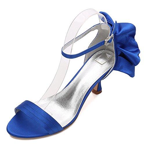 17 Scarpe Blu Sposa Comprese Basso personalizzato L'ufficio Estate Nastro Damigella 8 Tacco Da Le Donne 061 D'onore BqpxYaFn