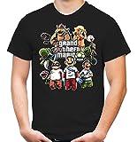 Mario's Gang T-Shirt | Mario's Gang T-Shirt | Super | Games | Retro | Männer | Herrn | Konsole | Trickfilm | Arcade | SNES | Nintendo | Kult (M)