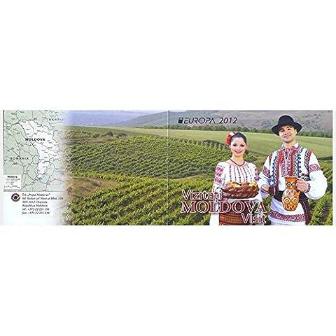 EUROPA CEPT 2012 / Folleto de 2 hojas de 3 sellos / moldavo Turismo - Visita Moldavia / Moldova / 2012 /