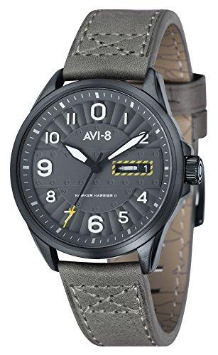 AVI–8Montre bracelet Mixte à Quartz Analogique Cuir Hawker Harrier II–AV 4045–03