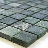 Marmor Mosaik Fliesen 23x23x8mm Verde