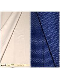 Kundan Sulz Gwalior Men's Executive Pure Cotton Printed Shirt Piece & Fancy Formal Trouser Fabric Combo Set ( 1 Pant and Shirt Piece for Men )