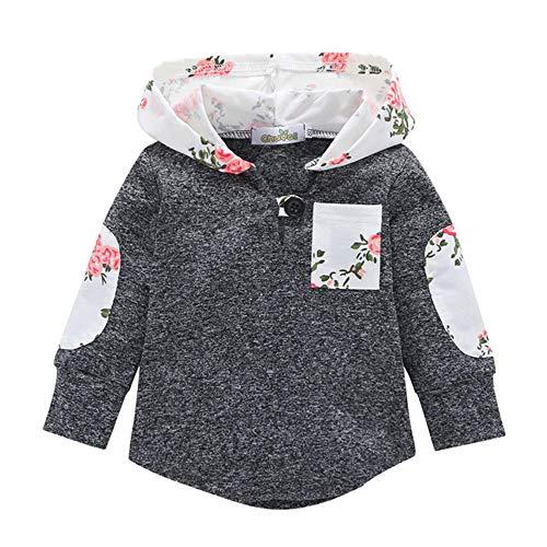 Beikoard_Babykleidung Baby Langarmbluse mit Kapuze Taschen Sweatshirt Pullover warme Kleidung