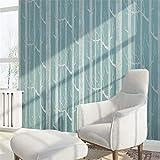 LANYU Wallpaper 3D Wandbild Weiße Birke Baum Muster Wald Tapete Rolle Moderne Einfache Tapete Design Schwarz Weiß Grau