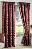 Crompton Pencil Pleat  Red Curtains