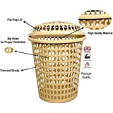 mastBus Durable Unbreakable Laundry Basket with Lid/Cap, Durable (Unbreakable) 50L with 6 Months Warranty