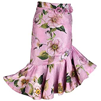Cutecumber Girls Organza Floral Printed Purple Skirt AM-SK-2067B-Purple-40