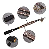 #8: Telescopic Fishing Rod Spinning Fish Hand Fishing Tackle Fishing Pole for Boat Saltwater and Freshwater Fish Fishing Rods Poles